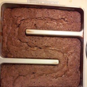 Brownies in the Bakers Edge Pan