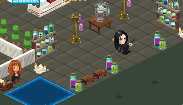 Severus Snape...erm, make that Grape, in my Restaurant City restaurant