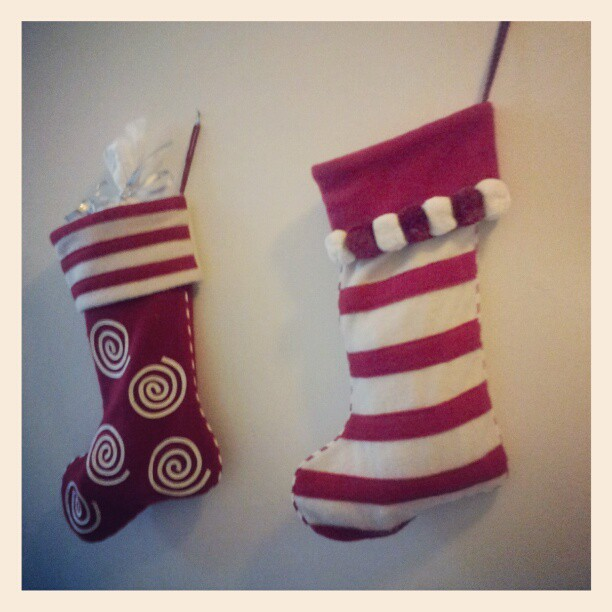 looks like Santa has already visited our Christmas stockings...